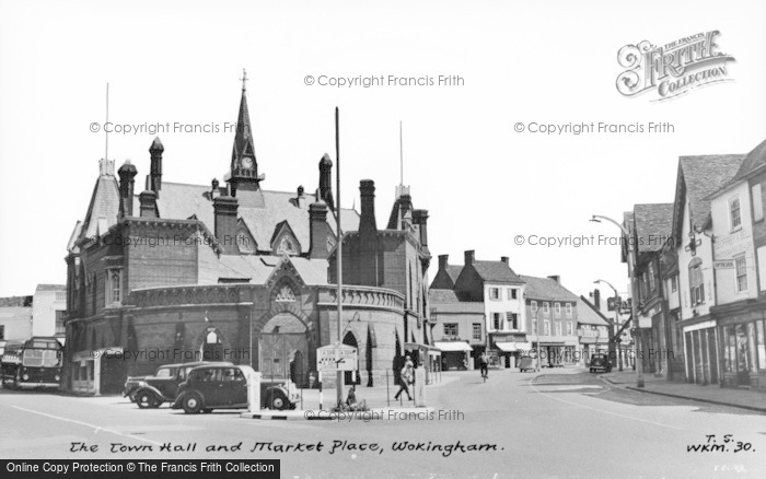 Photo of Wokingham, Town Hall And Market Place c.1955