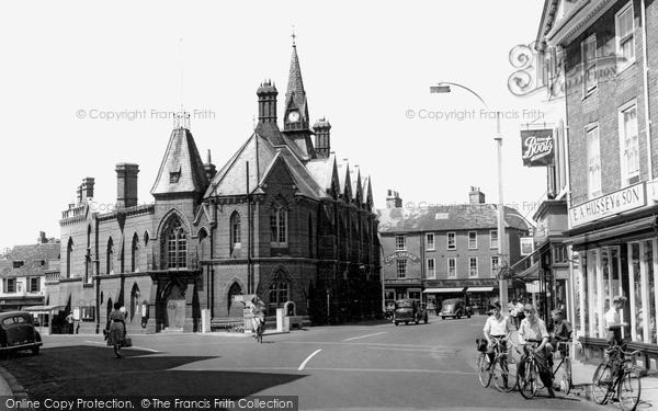Photo of Wokingham, Town Hall c.1955