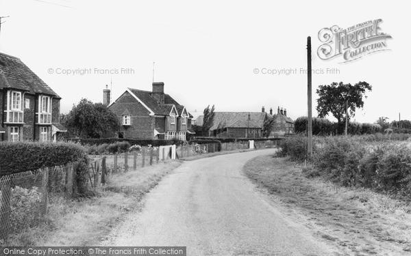 Photo of Wolferton, The Village c.1955