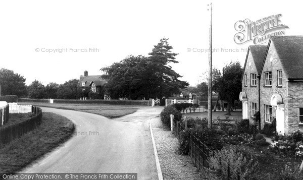 Photo of Wolferton, The Village c.1955