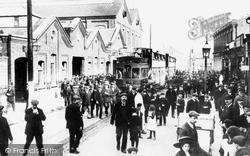 Wolverton, Stratford Road, Men Leaving The Wolverton Works c.1910