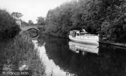 Wombourne, The Canal And Bridge c.1965