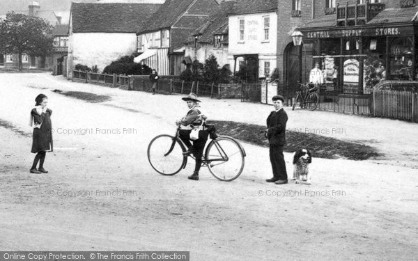 Photo of Wooburn Green, Children Outside The Stores 1910