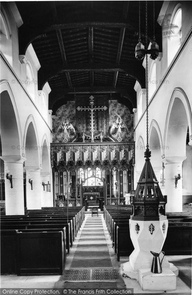 Photo of Wooburn, The Church Interior 1910