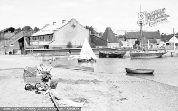 Photo of Woodbridge, Beach Scene c.1950