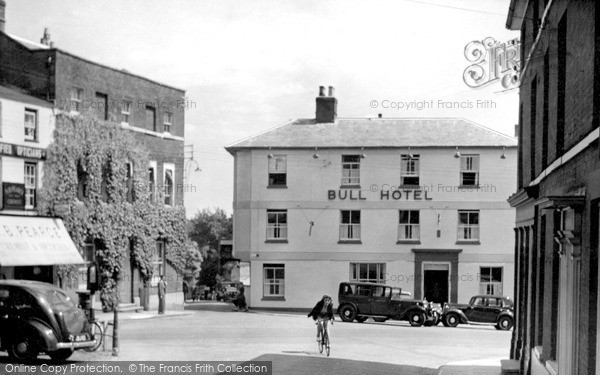Photo of Woodbridge, Bull Corner c.1950