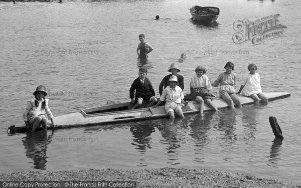 Photo of Woodbridge, Children Boating 1925