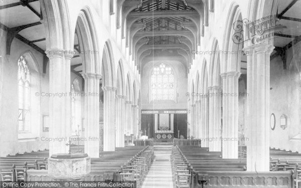 Photo of Woodbridge, Church Interior 1894