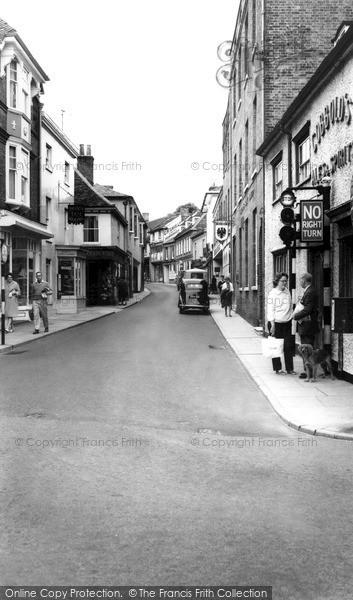 Photo of Woodbridge, Church Street c.1960