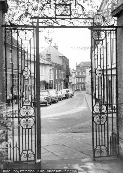 Photo of Woodbridge, Church Street c.1965