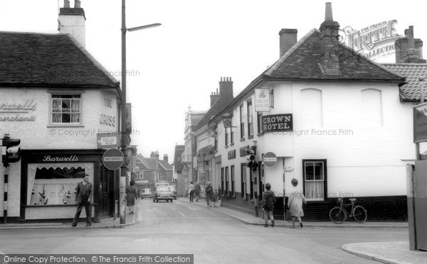 Photo of Woodbridge, Cross Corner And The Thoro'fare c.1965