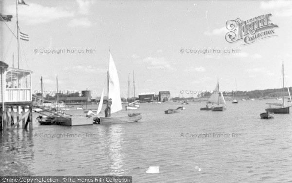 Photo of Woodbridge, Deben Yacht Club c.1955