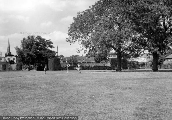 Photo of Woodbridge, Elmhurst Park c.1955