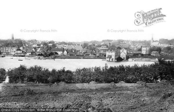 Photo of Woodbridge, From Across River Deben 1896