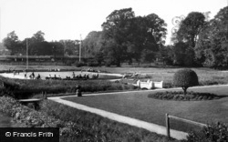 Gardens And Model Yacht Pond 1938, Woodbridge