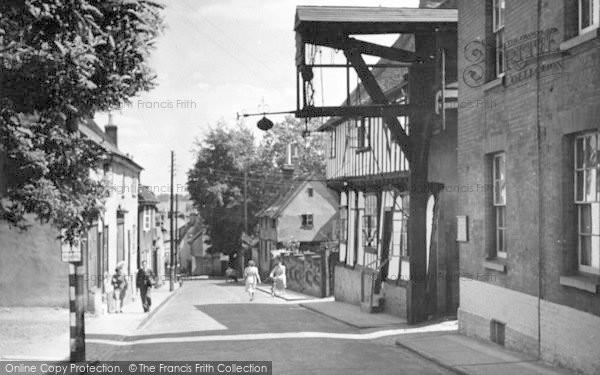Photo of Woodbridge, New Street c.1950