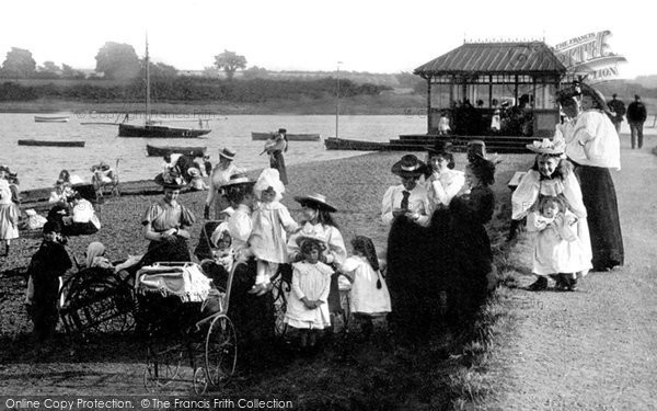 Photo of Woodbridge, People By The River1898