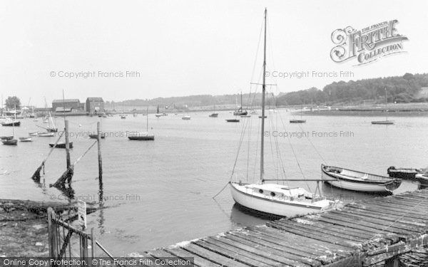 Photo of Woodbridge, River Deben c.1965