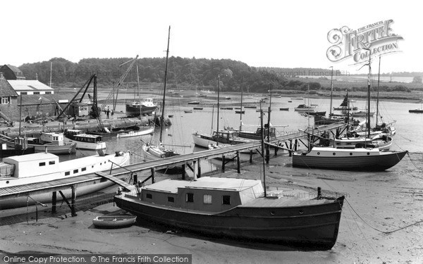 Photo of Woodbridge, River Deben c.1965