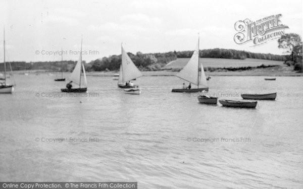 Photo of Woodbridge, River Scene c.1950