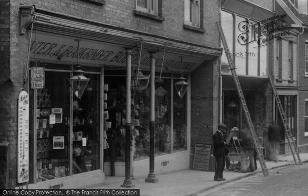 Photo of Woodbridge, Shop In Church Street 1906