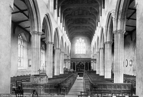Photo of Woodbridge, St Mary's Church Interior 1896