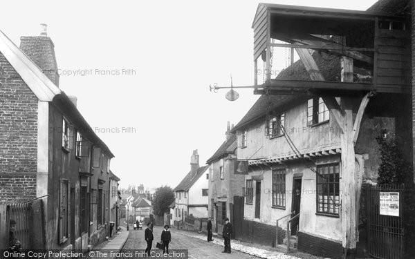 Photo of Woodbridge, The Bell Inn 1894