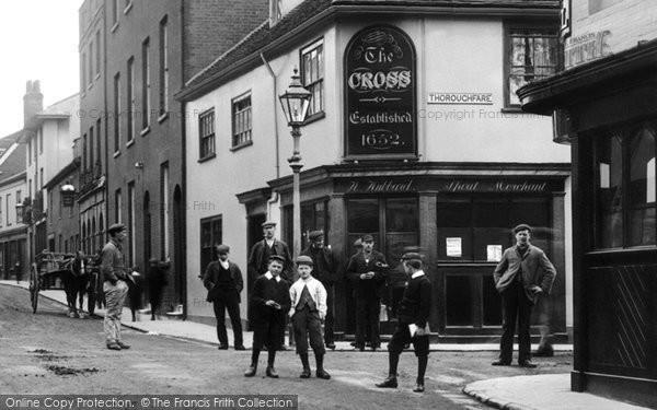 Photo of Woodbridge, The Cross Inn, Church Street 1906