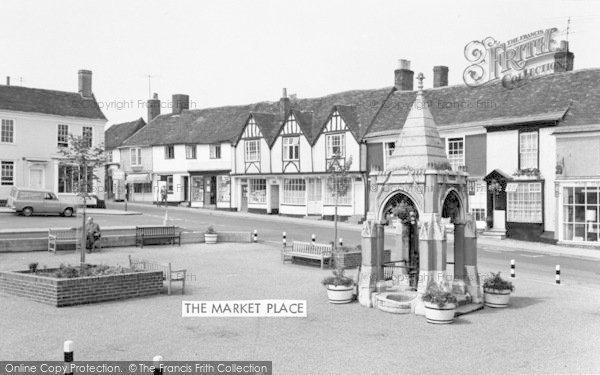 Photo of Woodbridge, The Market Place c.1970