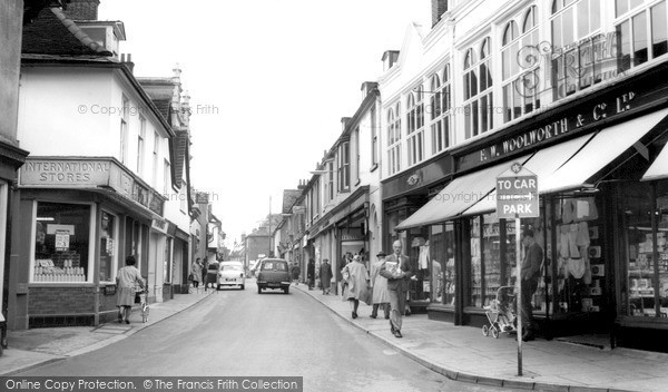 Photo of Woodbridge, The Thoroughfare c.1965