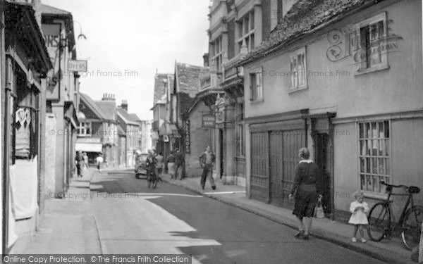 Photo of Woodbridge, Thoroughfare c.1950