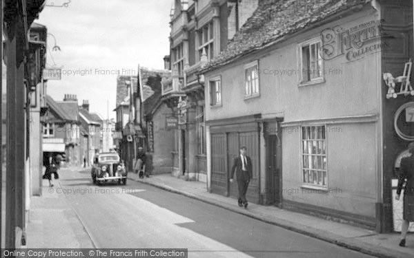 Photo of Woodbridge, Thoroughfare c.1955