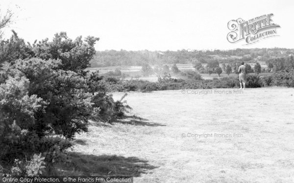 Photo of Woodbridge, View From Broom Heath c.1955