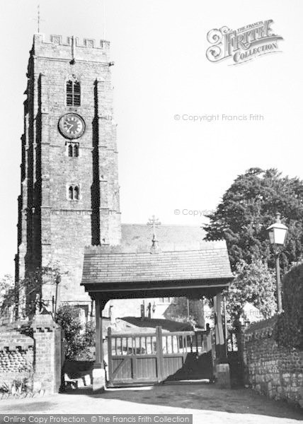 Photo of Woodbury, St Swithun's Church c.1960