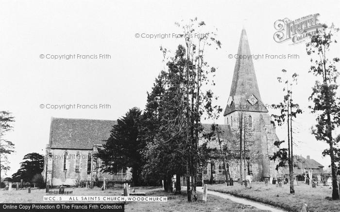 Photo of Woodchurch, All Saints Church c.1960