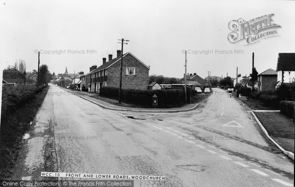 Photo of Woodchurch, Front And Lower Road c.1965