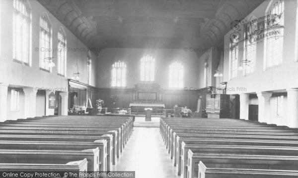 Photo of Woodford Bridge, Church Interior, Chapel Of The Good Shepherd c.1950