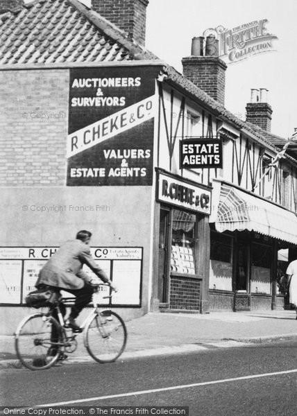 Photo of Woodford Bridge, Estate Agents c.1955