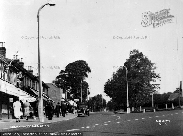 Photo of Woodford Bridge, High Road c.1955