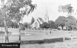 Woodford Bridge, The Church And Green c.1950