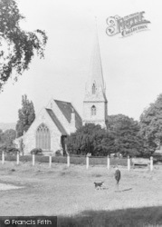 Woodford Bridge, The Church From The Green c.1950
