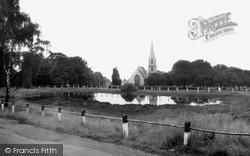 Woodford Bridge, The Pond And St Paul's Church c.1965