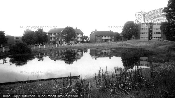Photo of Woodford Bridge, the Pond c1965