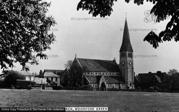 Photo of Woodford Green, All Saints Church c.1950