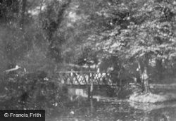 Higham's Park, The Bridge 1903, Woodford Green