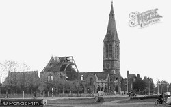 Woodford Green, The Bombed Church c.1945