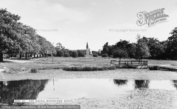 Photo of Woodford Green, The Green c.1955
