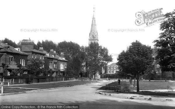 Photo of Woodford Green, The Terrace And Congregational Church 1921