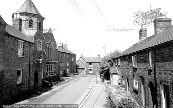 Photo of Woodford Halse, Moravian Church And Parsons Street c.1965
