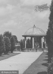 Woodhall Spa, Jubilee Park Bandstand c.1955